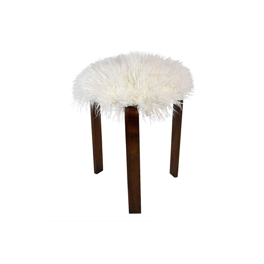 Wondrous Mid Century Faux Fur Stool Cjindustries Chair Design For Home Cjindustriesco