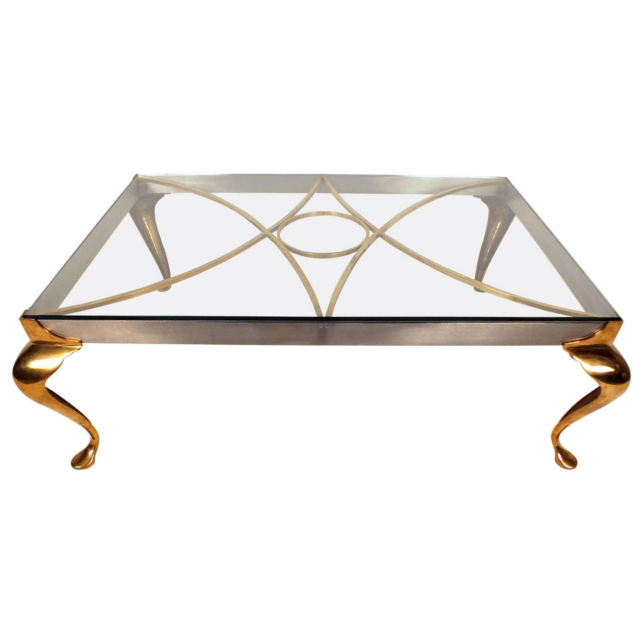 Picture of: Mid Century Hollywood Regency Brass Coffee Table Castle Antiques Design
