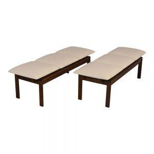 Pair of Restored Brown Saltman Modern Benches
