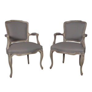 Pair of French 1950s Louis XV-Style Armchairs