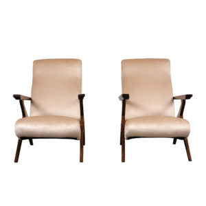 Pair of Modern Recliner Lounge Chairs
