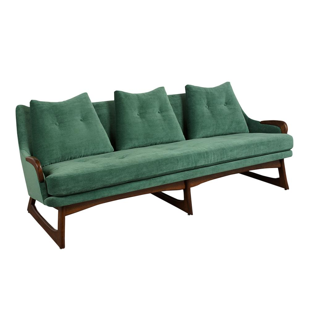 Completely Restored Mid Century Modern Sofa Attributed to Adrian Pearsall