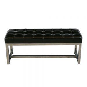 Modern-style Chrome Bench
