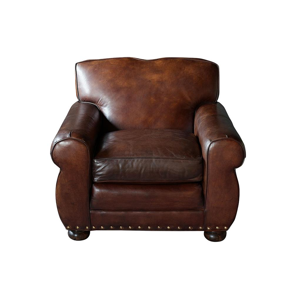 Restored 1950's Art Deco Style Leather Club Chair - Castle ...
