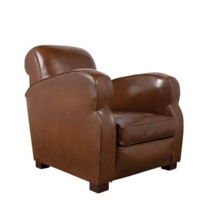 French-Art-Deco-Style-Club-Chair, art, deco, chair, castle-antiques, north-hollywood, furniture, leather, leather-chair