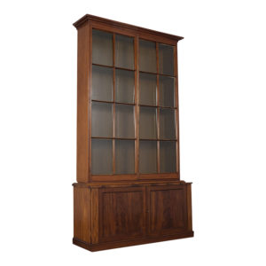 Bookcase, English, Handcrafted, England, Regency Style, Glass Panel, Doors, Shelves, Iron locks