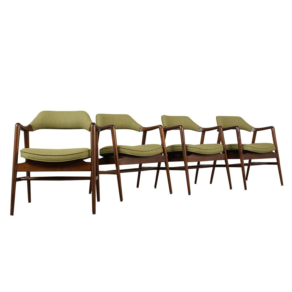 Awe Inspiring Set Of Four Mid Century Modern Style Dining Chairs Ibusinesslaw Wood Chair Design Ideas Ibusinesslaworg
