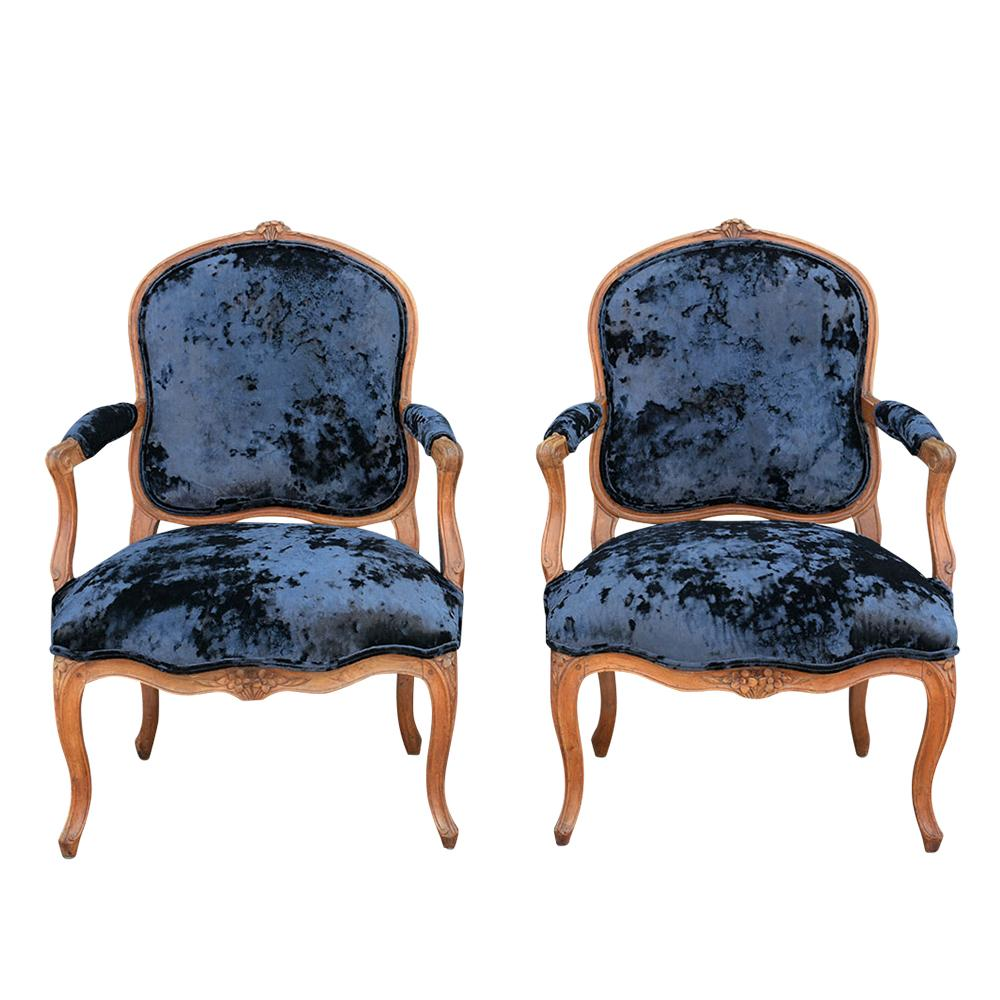 Groovy Pair Of 19Th French Provincial Armchairs Gmtry Best Dining Table And Chair Ideas Images Gmtryco