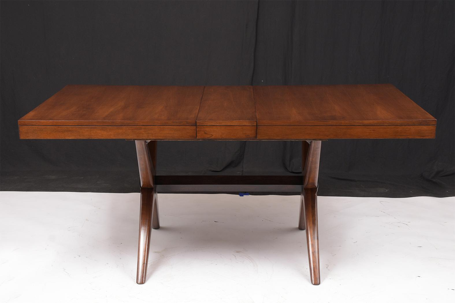 Mid Century Modern Lacquered Walnut Dining Table Castle Antiques Design