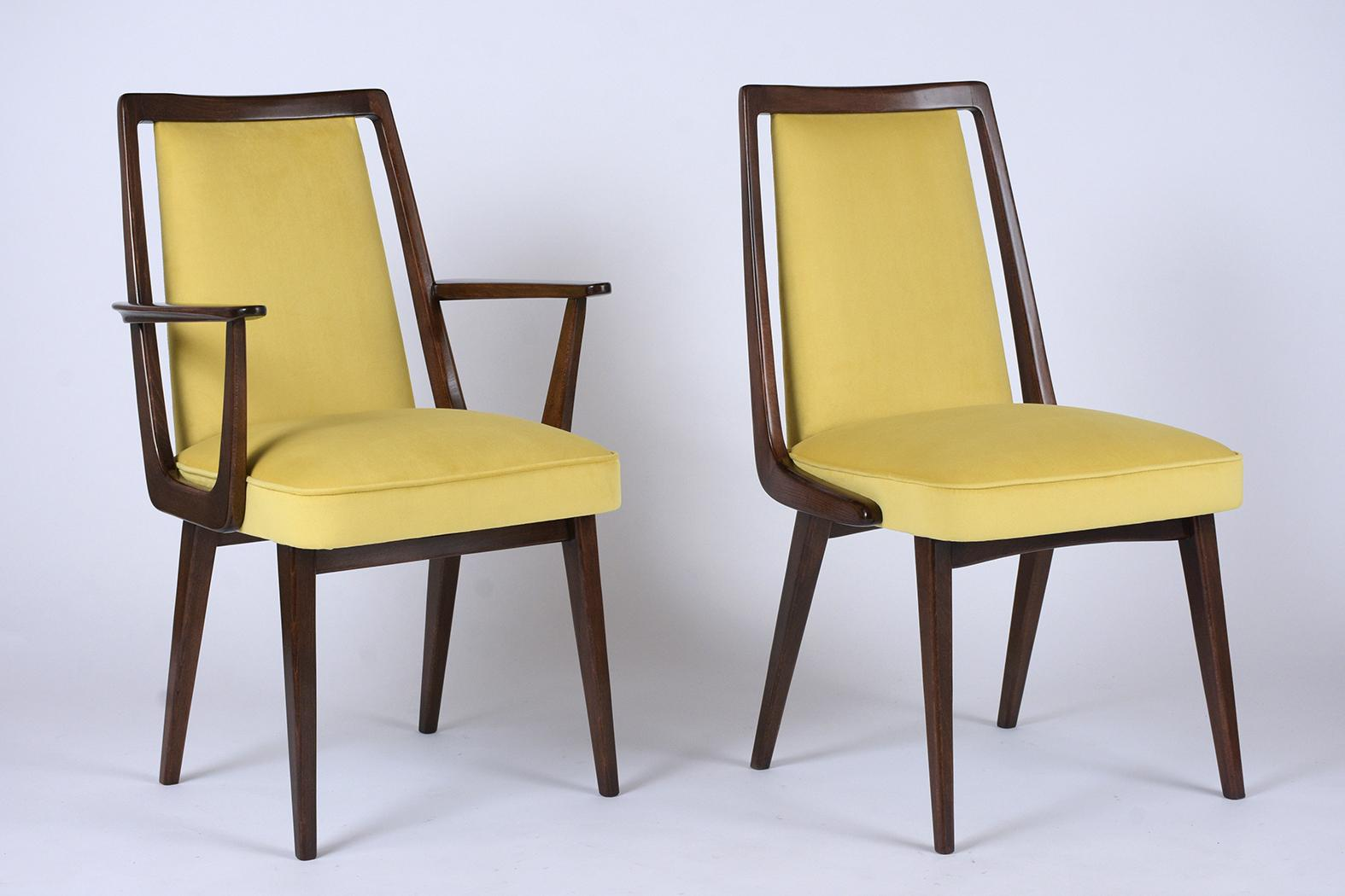 Image of: Set Of Twelve Mid Century Modern Dining Chairs Castle Antiques Design